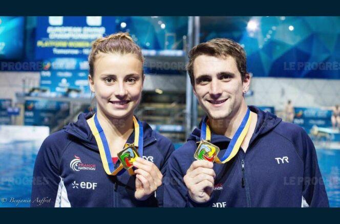 """Laura Marino et Matthieu Rosset étaient en forme !  © Le Progrès<span class=""""normal italic petit"""">DR</span>"""