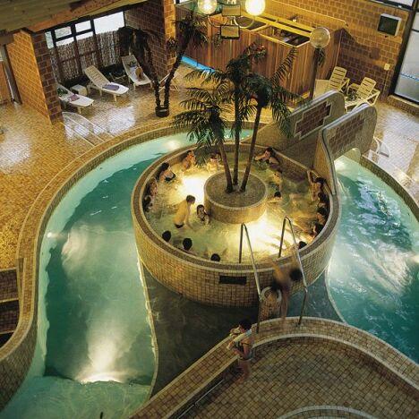 Le bain bouillonnant de la piscine Nautiland à Haguenau