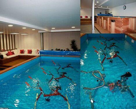 """Le bassin d'aquabiking """"Au Centre de l'Eau"""" à Bordeaux<span class=""""normal italic petit"""">DR</span>"""