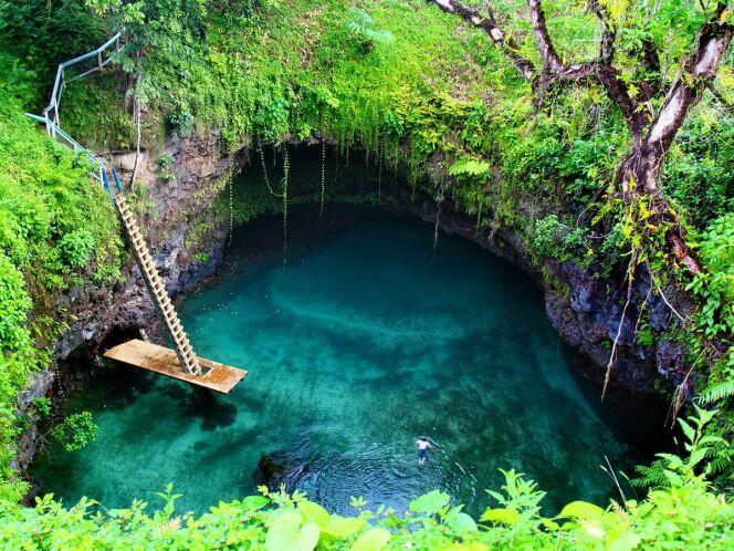 Le bassin de Lotofaga, sur les Îles Samoa en Polynésie