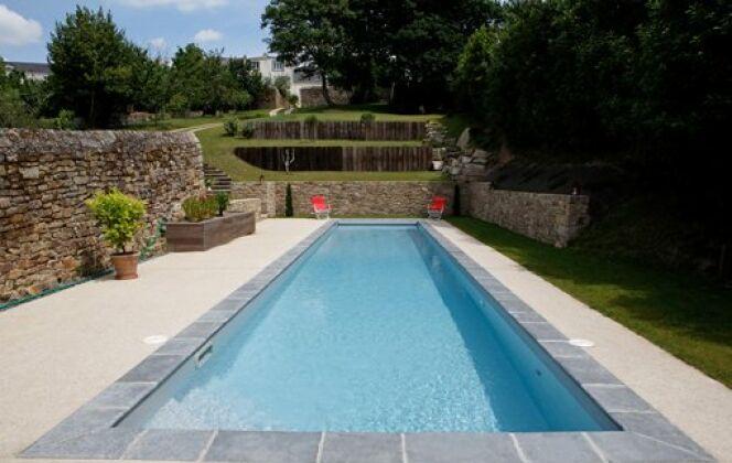 Le bassin de nage par Caron (4,60 x 13,60m) © Caron