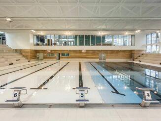 Le bassin sportif avec les 8 lignes d'eau