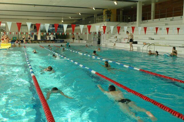Le bassin sportif de la piscine Alméo à Moreuil