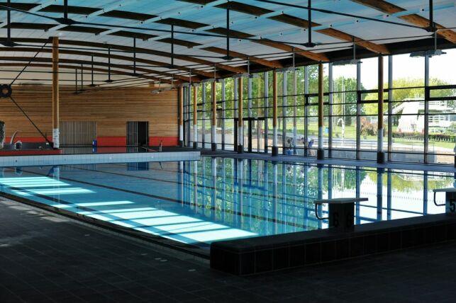 Le bassin sportif de la piscine Aquarhin à Ottmarsheim.