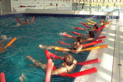"""Le centre aquatique Alméo à Moreuil propose des séances d'aquagym.<span class=""""normal italic"""">© Centre aquatique Alméo à Moreuil</span>"""