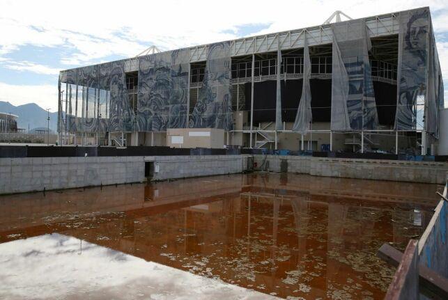 Le centre aquatique du complexe olympique de Rio. En août 2016, Michael Phelps était entré encore plus dans la légende à cet endroit.