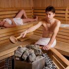 Le chauffage d'un sauna