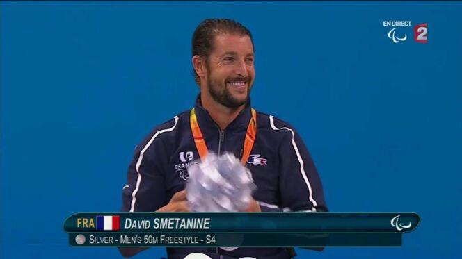 Le français David Smétanine médaillé du 50m nage libre aux Jeux Paralympiques