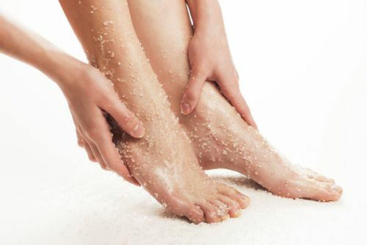 exfoliant pour les pieds