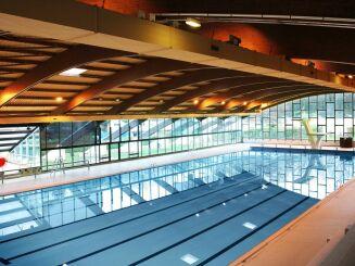Le grand bassin de natation à la piscine olympique d'Amnéville
