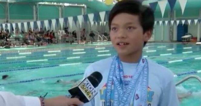 Le jeune Clark Kent bat le record de Michael Phelps