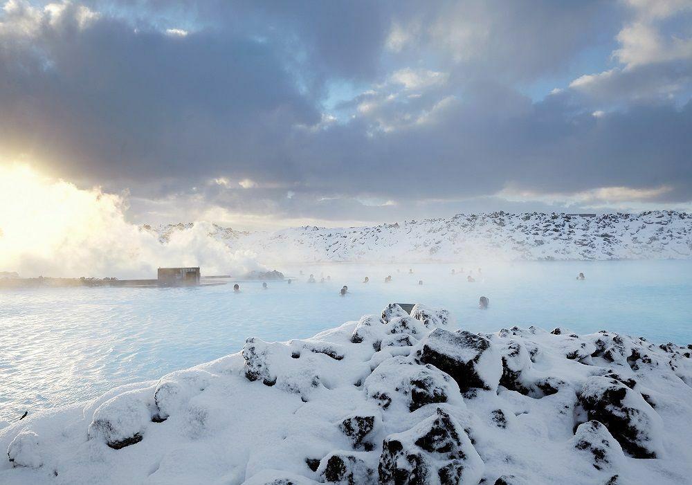 Le Lagon Bleu en hiver© Blue Lagoon