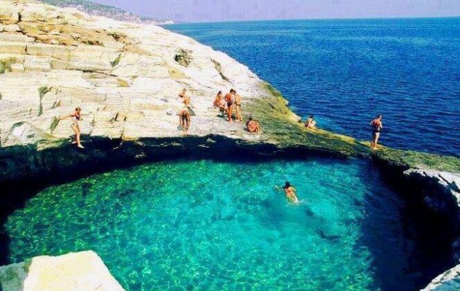 Le lagon de Giola, en Grèce. © DR