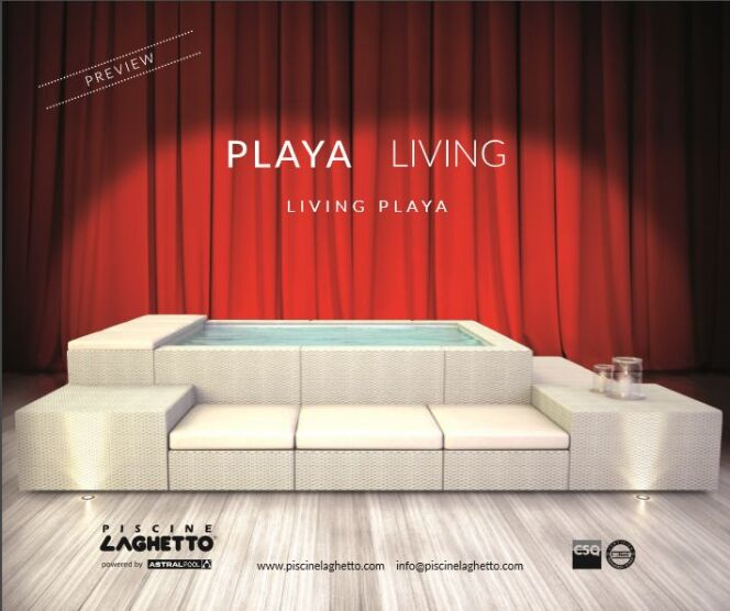 """Le modèle Playa living, nouveauté 2017 par Laghetto<span class=""""normal italic petit"""">© Laghetto</span>"""