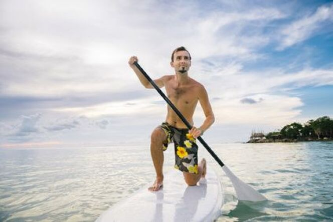 """Le paddle board<span class=""""normal italic petit"""">DR</span>"""
