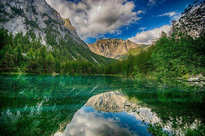 Le panorama du Grüner See, en Autriche