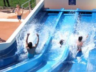 Le pentaglisse de la piscine d'Evron