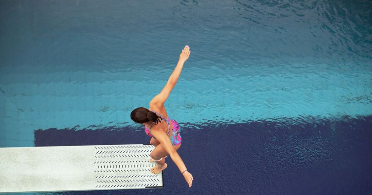 Le plongeon synchronis for Piscine plongeoir