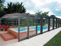 Le prix d'un abri de piscine haut