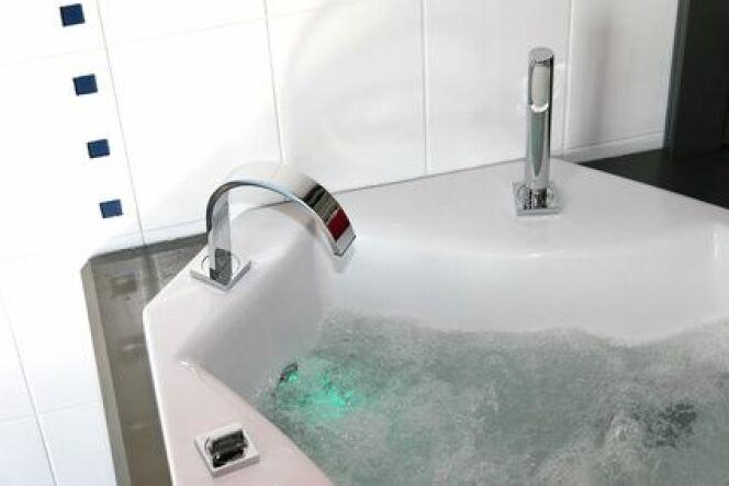 """Le prix d'une baignoire balnéo dépend avant tout de sa taille et de ses options intégrées. <span class=""""normal italic petit"""">© Jean-Paul Comparin - Fotolia.com</span>"""