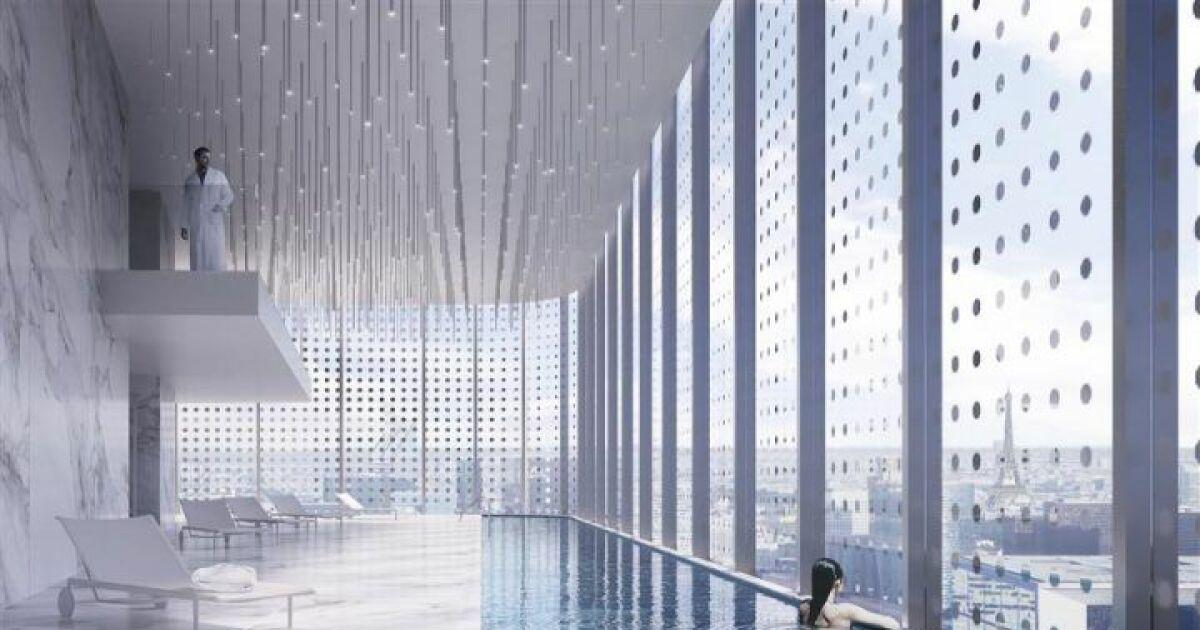 Une piscine avec vue panoramique sur paris for Projet piscine