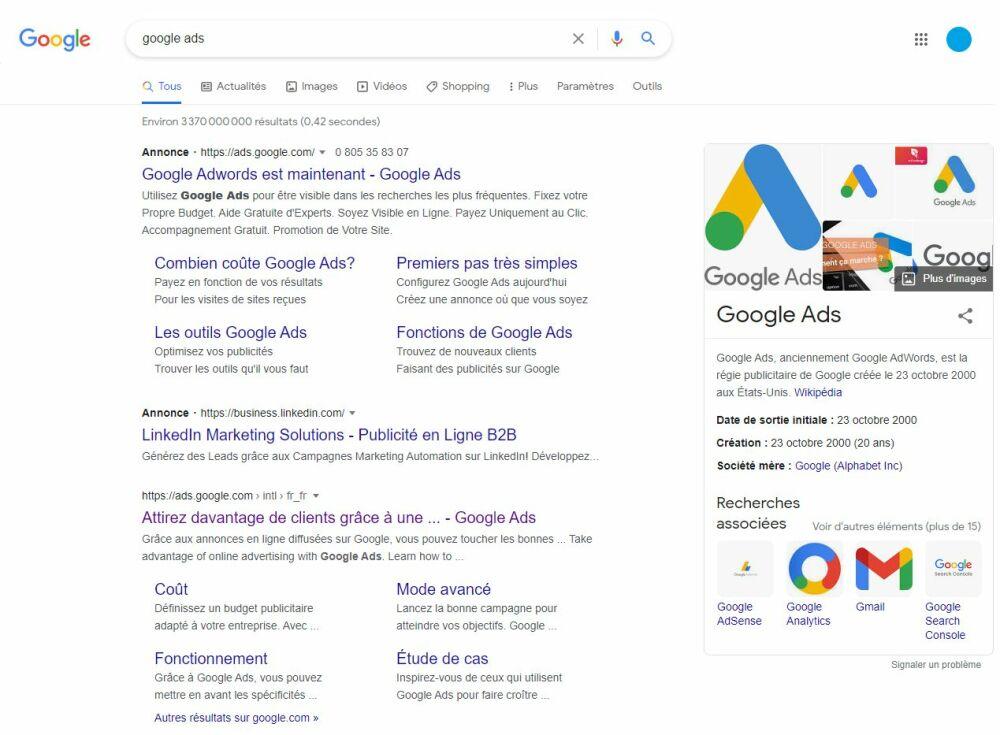 Le référencement payant avec Google AdsDR