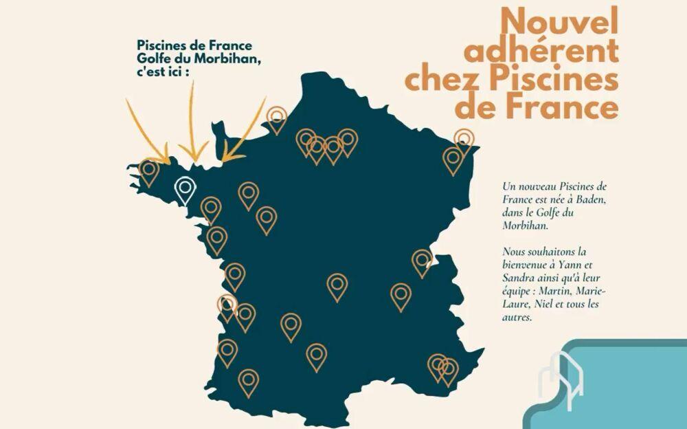 Le réseau Piscines de France s'agrandit avec un nouvel adhérent dans le Morbihan© Piscines de France