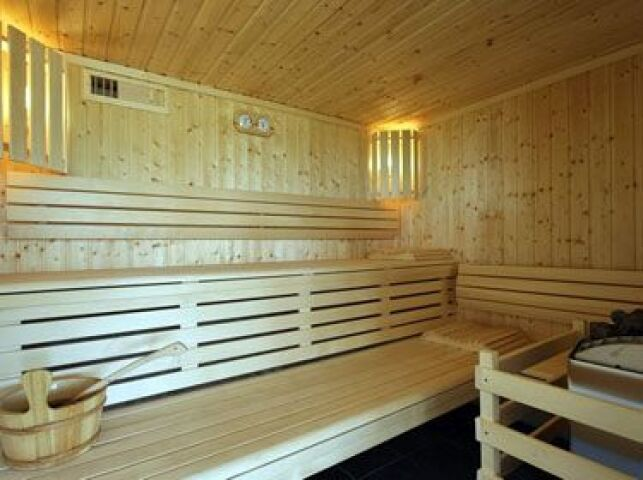 Le sauna du centre aquatique Alméo à Moreuil