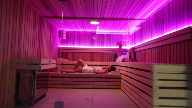 Le sauna du spa Le Patio à Allonne