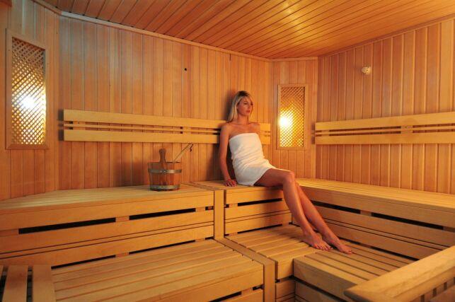 Le sauna du spa Pur Attitude à Ottrott