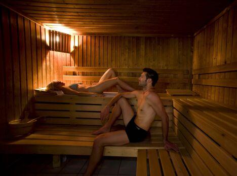 """Le sauna du Spa Sanhoa au Centre Royatonic de Royat<span class=""""normal italic petit"""">© F.Benué</span>"""