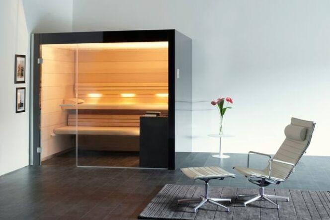 """Un sauna électrique reproduit fidèlement les effets d'un sauna traditionnel mais il est plus facile à installer et à utiliser.<span class=""""normal italic petit"""">© Freixanet</span>"""