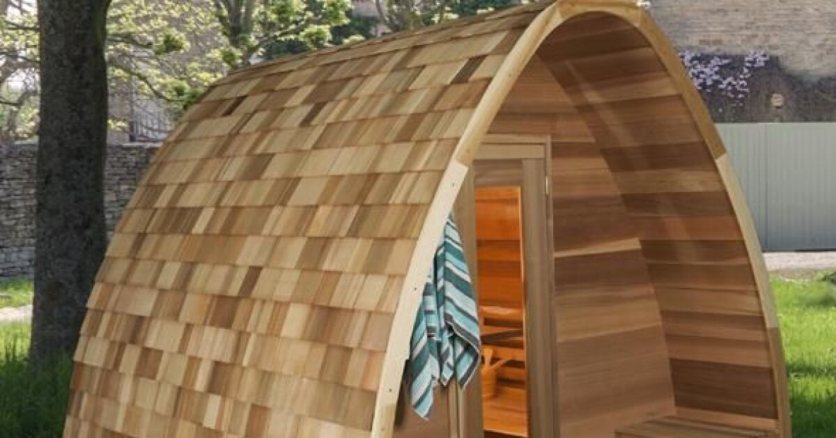 le sauna pod une cabane originale et cologique. Black Bedroom Furniture Sets. Home Design Ideas