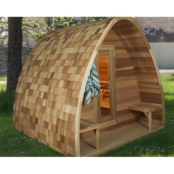 Le sauna pod une cabane originale et cologique - Cabane de jardin originale ...