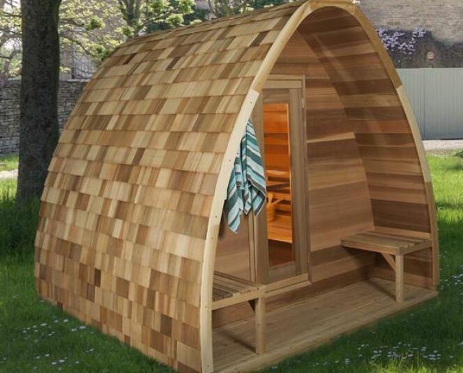 """Le sauna pod : une cabane originale et écologique<span class=""""normal italic petit"""">© leisurecraftwest.com</span>"""