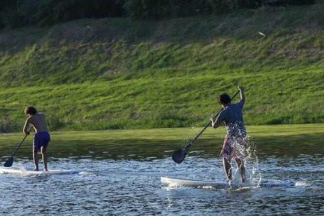 """Le stand up paddle de rivière<span class=""""normal italic petit"""">DR</span>"""