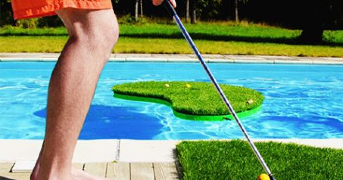 Le swimming golf jeu de golf pour piscine aqua golf for Jeu de piscine