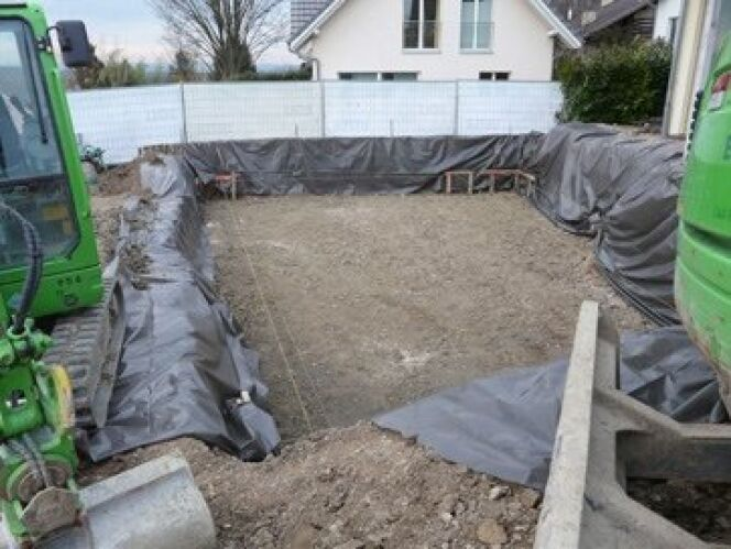 """Le terrassement : le véritable commencement du chantier<span class=""""normal italic petit"""">© Egli</span>"""