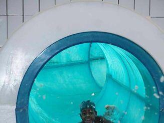 Le toboggan de la piscine Nautil'ys au Crozon