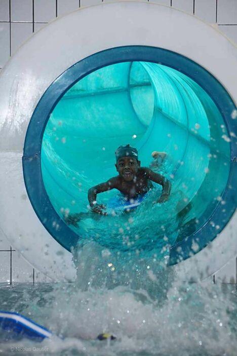 """Le toboggan de la piscine Nautil'ys au Crozon<span class=""""normal italic petit"""">© Nicolas Gautier</span>"""