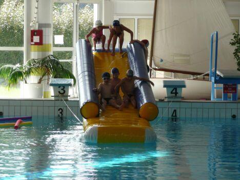 """Le toboggan pour les enfants au centre aquatique Jean Blanchet d'Ancenis<span class=""""normal italic petit"""">DR</span>"""