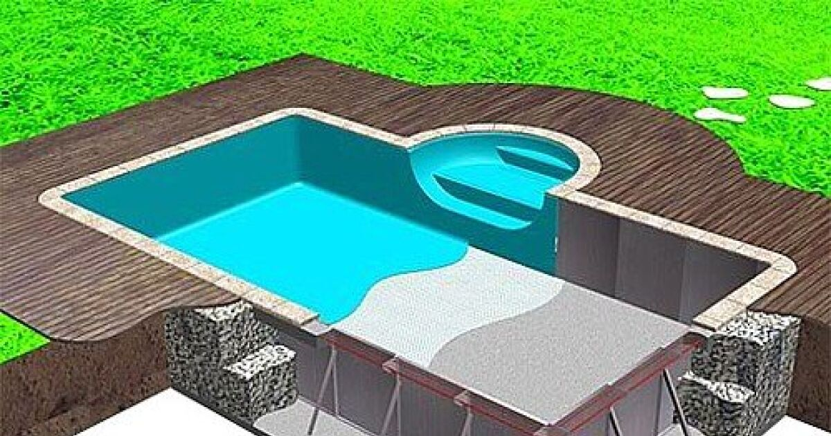 Construction d 39 une piscine enterr e le tra age de la piscine for Construction piscine enterree