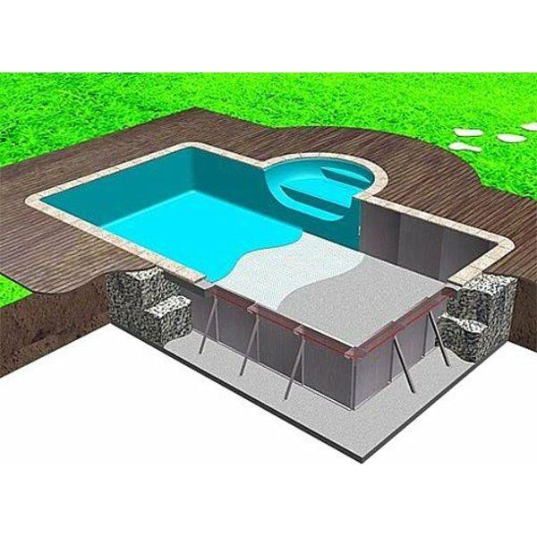 Construction d 39 une piscine enterr e le tra age de la piscine for Construction mur mitoyen
