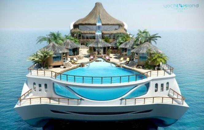 Le yacht Tropical Island : un île sur un bateau