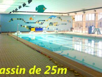 Le bassin de 25 mètres de la piscine de Mérignac