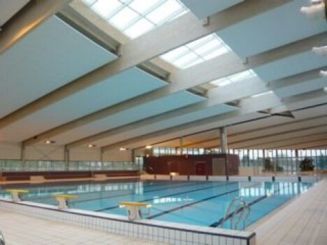 """Le bassin sportif de la piscine de Crepy en Valois<span class=""""normal italic"""">DR</span>"""