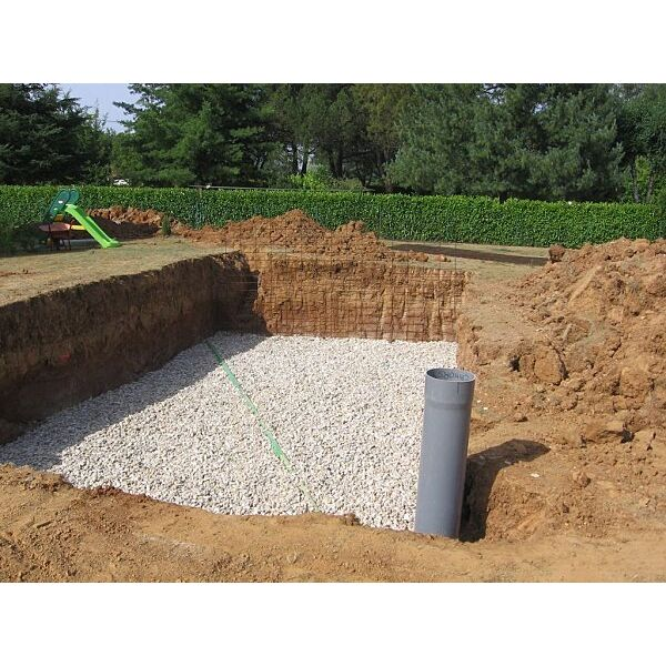 Construction d 39 une piscine enterr e le drainage for Piscine non enterree