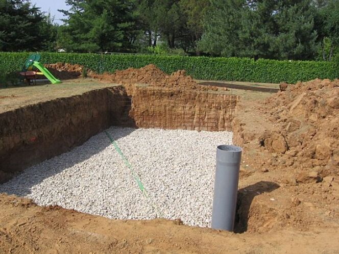 Construction d 39 une piscine enterr e le drainage for Construction piscine sur terrain non constructible