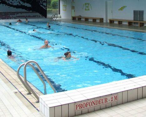 Le grand bassin de la piscine de Pompey