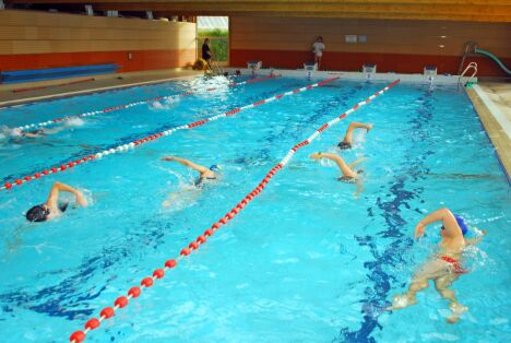 "Le grand bassin de natation à la piscine d'Arques<span class=""normal italic"">DR</span>"